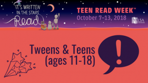 Teen Read Week -- CCPLS (all) @ All Campbell County Public Libraries