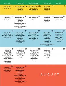 FEF August Calendar