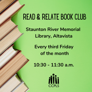 graphic for Read & Relate Book Club at SRML