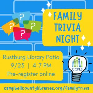 Outdoor Family Trivia - Rustburg @ Rustburg Library