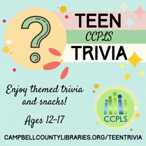 Outdoor Teen Trivia - Altavista @ Staunton River Memorial Library