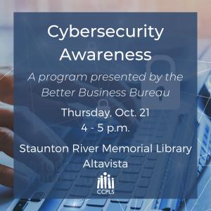 Cybersecurity Awareness - Altavista @ Staunton River Memorial Library