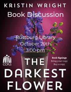 The Darkest Flower book talk