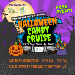 Halloween Candy Cruise @ Campbell County Dept. of Social Services Parking Lot