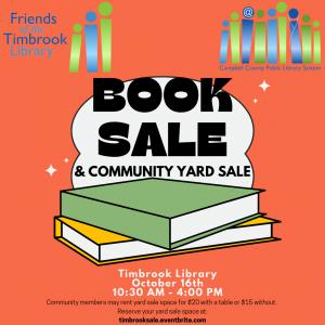 Timbrook Book Sale & Community Yard Sale - Timbrook @ Timbrook Library